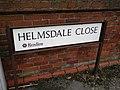 Street sign, Helmsdale Close, Reading - geograph.org.uk - 1769689.jpg