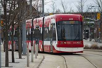 Toronto streetcar system - Car 4409 on Cherry Street
