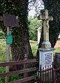Studzienno topole białe Maria i krzyż przydrożny 26.07.2011 p.jpg