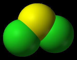 Sulfur dichloride - Image: Sulfur dichloride 3D vd W