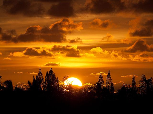 File Sunrise Kauai Jpg Wikimedia Commons