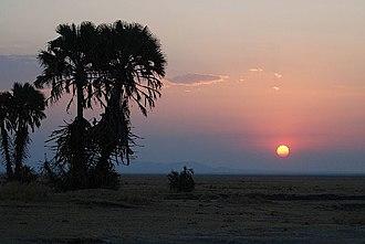 Katavi National Park - Image: Sunset over Katavi National Park