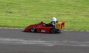 Superkart - A Formula E/Division 1 250 cc Superkart at Castle Combe, England.