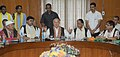 Sushil Kumar Shinde addressing at the signing ceremony of a Memorandum of Settlement (MoS) among Government of India, Government of Assam and factions of Dima Halima Daoga, in New Delhi. The Chief Minister of Assam.jpg