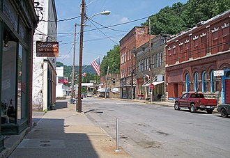 Sutton, West Virginia - Main Street in downtown Sutton in 2007