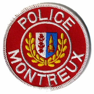 Embroidered patch - Montreaux police patch