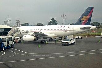 Avianca Perú - TACA Peru Airbus flying under the old TACA livery.