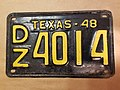 TEXAS 1948 license plate.jpg