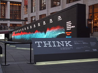 Think (IBM) - IBM Think-themed exhibit at Lincoln Center in 2011.