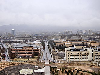 University of Tabriz - Main street of Tabirz University.