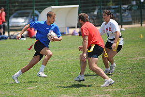 Tag rugby - Image: Tag.Rugby.Play.01