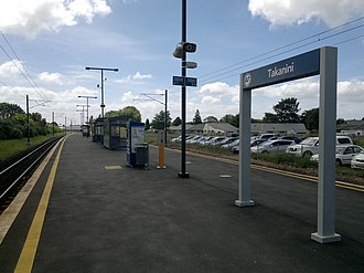 Takanini railway station - Takanini railway station in 2014.
