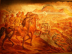 Zacatecas City - Painting of the Toma de Zacatecas, Chapultepec Castle, Mexico City