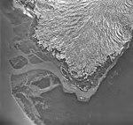 Taku Glacier, terminus of valley glacier, August 27, 1968 (GLACIERS 6172).jpg