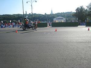 Takumi Saito (racewalker) - Saito during the 20 km race walk at the 2013 World Championships.