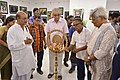 Tarak Sengupta Lighting Inaugural Lamp - 43rd PAD Group Exhibition Inauguration - Kolkata 2017-06-20 0368.JPG