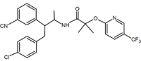 Taranabant MK0364 CB1 antagonist.png