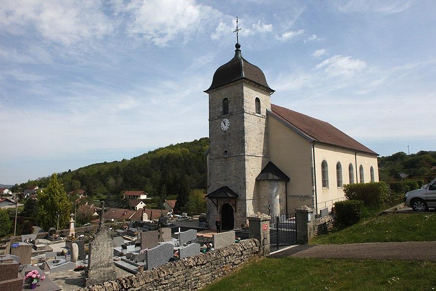 Église de Tarcenay (Doubs).