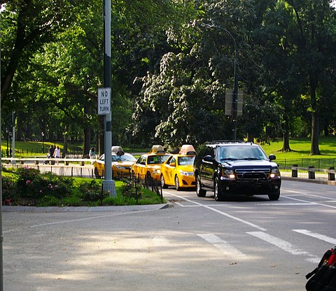 Center Drive in Central Park Taxis routes Central Park.JPG