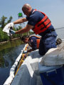 Technicians collecting oil samples.jpg