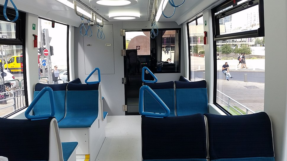 Tel Aviv Light Rail Passenger car inside