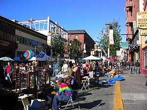 Southside, Berkeley, California - Telegraph Avenue during a street fair