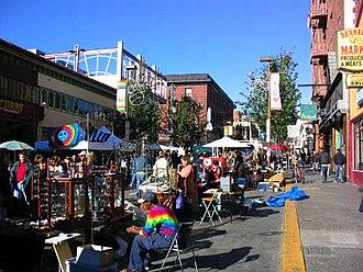 Southside, Berkeley, California - Telegraph Avenue during a street fair