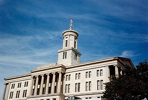 Photograph of the Tennessee State Capitol on a...