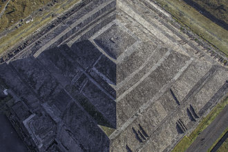 Pyramid of the Sun of Teotihuacan with first human establishment in the area dating back to 600 BC Teotihuacan-5954.JPG