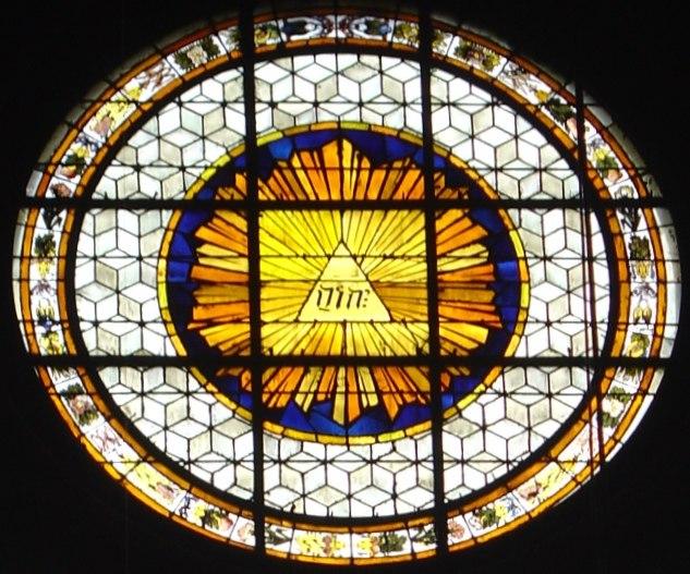 Tetragrammaton at RomanCatholic Church Saint-Germain Paris France
