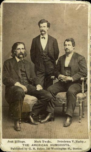 David Ross Locke - Locke with Josh Billings and Mark Twain