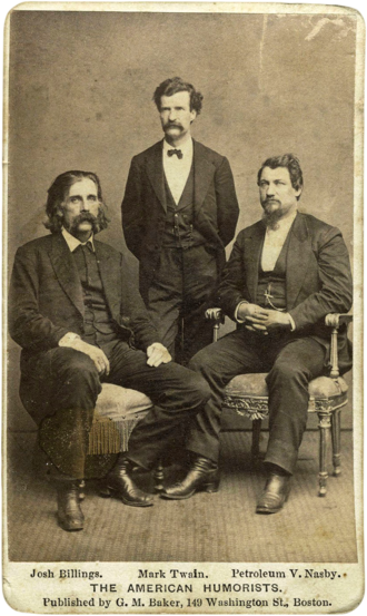 David Ross Locke - Locke with Josh Billings and Mark Twain