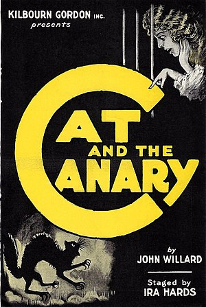 The Cat and the Canary (play) - Advertising herald for the 1922 Broadway production