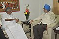 The Chief Minister of Kerala, Shri Oommen Chandy meeting the Deputy Chairman, Planning Commission, Shri Montek Singh Ahluwalia, for finalization of Annual Plan outlay for 2011-12 of the State, in New Delhi on July 27, 2011.jpg