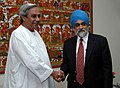 The Chief Minister of Orissa, Shri Naveen Patnaik meeting with the Deputy Chairman, Planning Commission, Dr. Montek Singh Ahluwalia to finalize annual plan 2008-09 of the State, in New Delhi on March 03, 2008.jpg