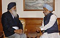 The Chief Minister of Punjab Shri Prakash Singh Badal calling on the Prime Minister Dr Manmohan Singh, in New Delhi on March 10, 2007.jpg