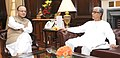 The Chief Minister of Tripura, Shri Manik Sarkar meeting the Union Minister for Finance, Corporate Affairs and Information & Broadcasting, Shri Arun Jaitley, in New Delhi on August 24, 2015.jpg