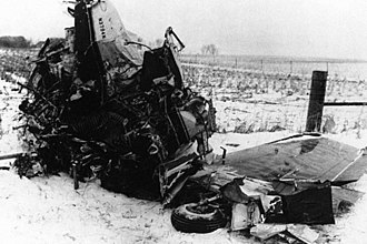 Ritchie Valens - Photo of the airplane crash in Iowa