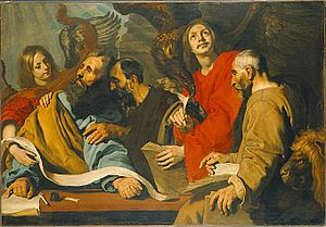 Christology - The Four Evangelists, by Pieter Soutman, 17th century
