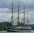 The Kruzenshtern on the last day of the Rouen Armada 2019, on the River Seine from Rouen to Le Havre ... (48087752968).jpg