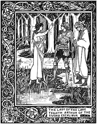 Le Morte d'Arthur - Image: The Lady of the Lake telleth Arthur of the sword Excalibur