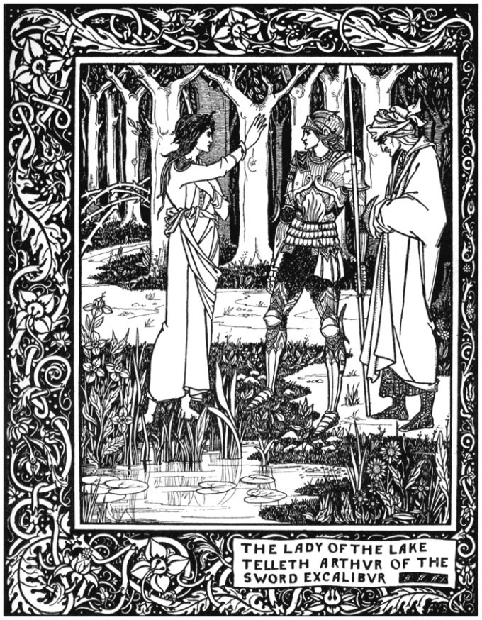 The Lady of the Lake telleth Arthur of the sword Excalibur