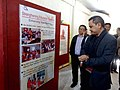 The MLA, Lunglei West Constituency, Shri Chalrosanga visiting the DAVP's Photo Exhibition, at the Public Information Campaign, at Mualthuam North in Lunglei District of Mizoram on November 26, 2014.jpg