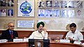 The Minister of State for Housing and Urban Affairs (IC), Shri Hardeep Singh Puri addressing at the release of SOR 2018 for New Technologies and 1st QR Code & Launch of Facebook and Twitter Page of CPWD, in New Delhi.JPG