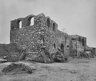 Teshie - The ruines of Fort Augustaborg in Teshie around 1890