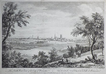 The North West View of the City of Worcester.