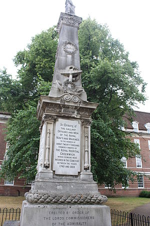 Samuel Hood, 1st Viscount Hood - The Officers Monument, Greenwich Hospital Cemetery