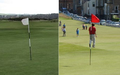 The Old Course 7th (white) & 17th (red) flags.png