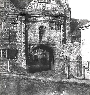 Oracle (workhouse) - Image: The Oracle gateway, c. 1845
