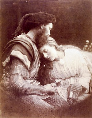 The Parting of Sir Lancelot and Queen Guinever...